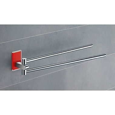 Gedy by Nameeks Maine 14'' Wall Mounted Towel Bar; Red