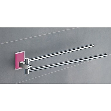 Gedy by Nameeks Maine 14'' Wall Mounted Towel Bar; Pink