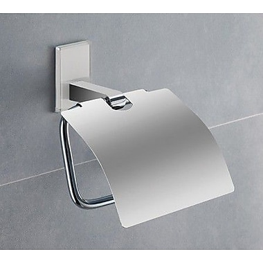 Gedy by Nameeks Maine Wall Mounted Toilet Paper Holder w/ Cover; White