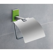 Gedy by Nameeks Maine Wall Mounted Toilet Paper Holder w/ Cover; Green
