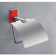 Gedy by Nameeks Maine Wall Mounted Toilet Paper Holder w/ Cover; Red