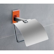 Gedy by Nameeks Maine Wall Mounted Toilet Paper Holder w/ Cover; Orange
