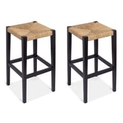 BirdRock Home Rush Weave  30'' Bar Stool (Set of 2)