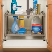Seville Classics Expandable Sink Shelf w/ Perforated Panel