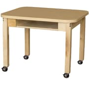 Wood Designs Laminate 18'' Open Front Desk