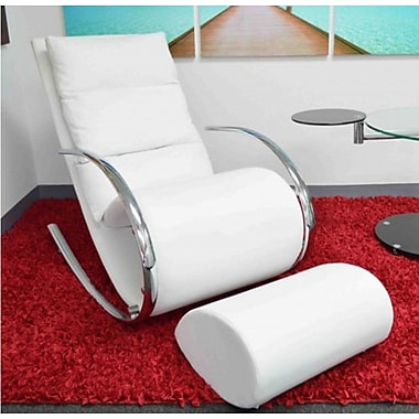 The Collection German Furniture Niche Rocking Chair; White
