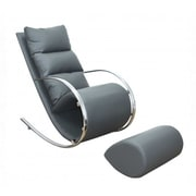 The Collection German Furniture Niche Rocking Chair; Gray
