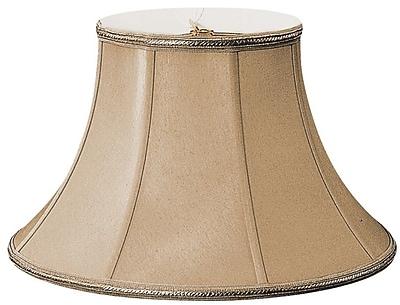 RoyalDesigns Timeless 12'' Silk/Shantung Bell Lamp Shade; Antique Gold/Off-White