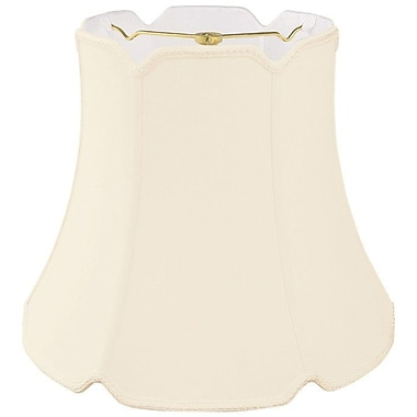 RoyalDesigns Timeless 12'' Silk/Shantung Bell Lamp Shade; Eggshell