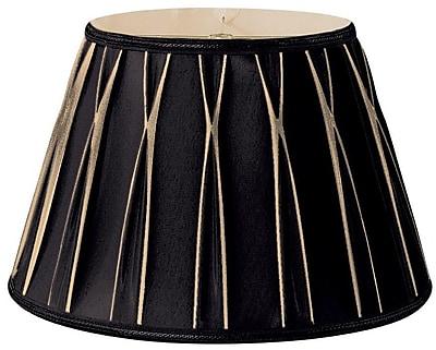 RoyalDesigns Timeless 18'' Silk/Shantung Empire Lamp Shade; Black/Gold