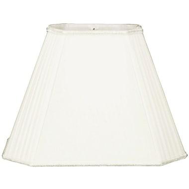 RoyalDesigns Timeless 18'' Silk/Shantung Empire Lamp Shade; White