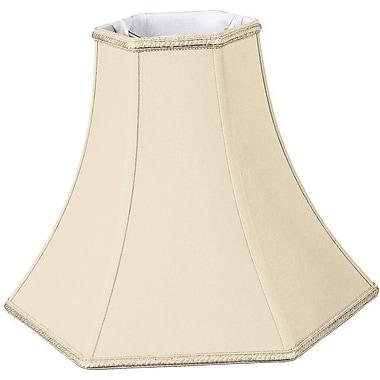 RoyalDesigns Timeless 16'' Silk/Shantung Bell Lamp Shade; Beige