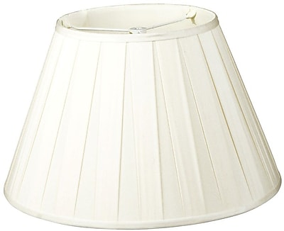 RoyalDesigns Timeless 12'' Silk/Shantung Empire Lamp Shade; White