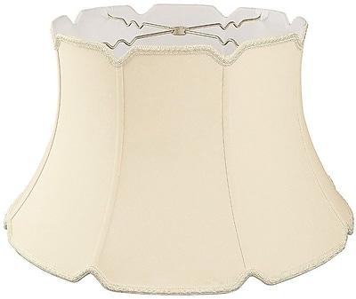 RoyalDesigns Timeless 17'' Silk/Shantung Bell Lamp Shade; Beige