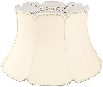 RoyalDesigns Timeless 17'' Silk/Shantung Bell Lamp Shade; Eggshell