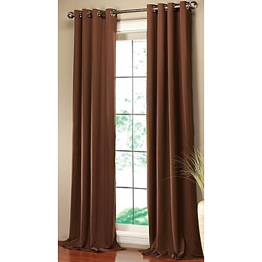 India House Bela Single Curtain Panel; Chocolate