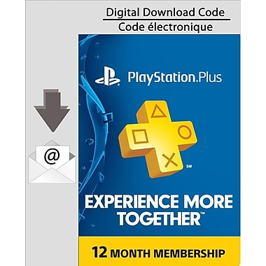 PlayStation Plus 12 Month Membership, Electronic Code, [Download]