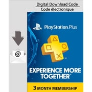 PlayStation Plus 3 Month Membership, Electronic Code, [Download]