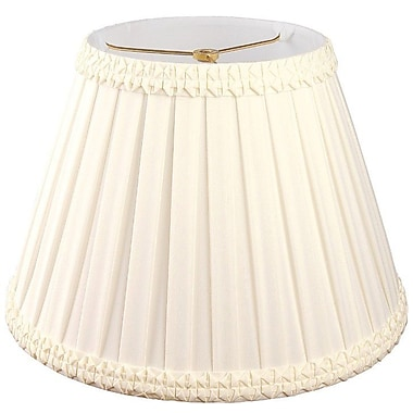 RoyalDesigns Timeless 16'' Silk/Shantung Empire Lamp Shade; Eggshell/Off-White