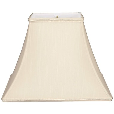 RoyalDesigns Timeless 10'' Silk/Shantung Bell Lamp Shade; Beige/Off-White