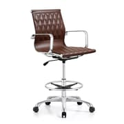 Woodstock Marketing Annie Mid-Back Drafting Chair; Brown