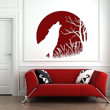 Style and Apply Howling Wolf Wall Decal; Lavender