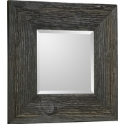 Hobbitholeco. Wood Beveled Square Accent Mirror (Set of 4)