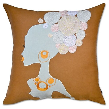 A1 Home Collections LLC Patchwork Lady Cotton Throw Pillow
