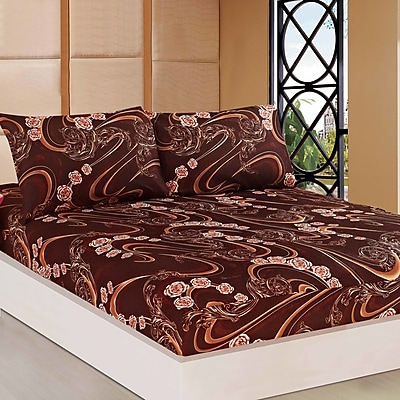 Tache Home Fashion Melted Fitted Sheet Set; California King