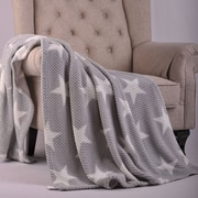 BOON Throw & Blanket Star Flannel Travel Throw