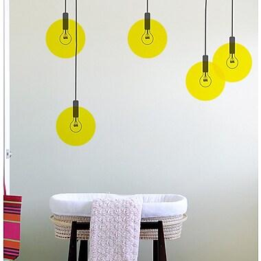 BLIK Inc 15 Piece Bubble Light Wall Decal Set; Yellow