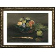 Buy Art For Less Museum Masters 'Basket of Fruit' by Edouard Manet Framed Painting Print