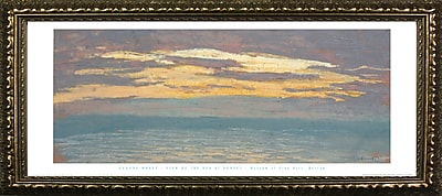 Buy Art For Less Museum Masters 'View of the Sea at Sunset' by Claude Monet Framed Painting Print