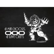 Inked and Screened Gaming 'BioShock ' Silk Screen Print Graphic Art in Chalkboard/White Ink