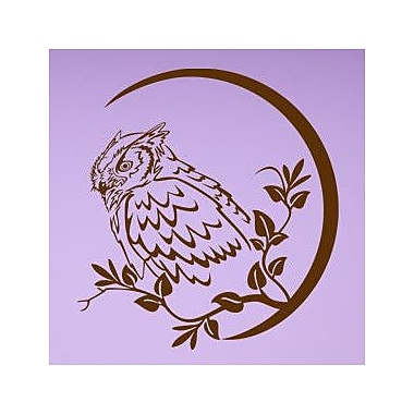 Style and Apply Wise Owl Wall Decal; Brown