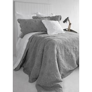 Brunelli Organic Cotton Throw Pillow; Gray
