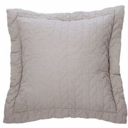 Brunelli Unik Cotton Throw Pillow; Light Gray