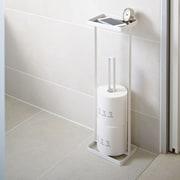 Yamazaki USA Tower Freestanding Toilet Paper Stand w/ Tray; White