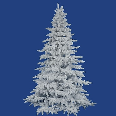 Vickerman Flocked White Spruce 4.5' Artificial Christmas Tree w/ Unlit w/ Stand