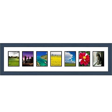 Frames By Mail 7 Opening Collage Picture Frame; Blue