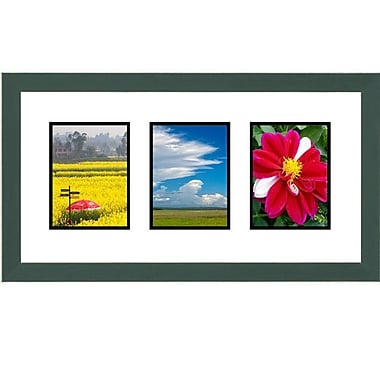 Frames By Mail 3 Opening Collage Picture Frame; Green