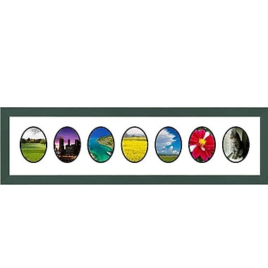 Frames By Mail 7 Opening Collage Picture Frame; Green