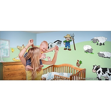 IStickUp On the Farm Wall Decal; 30'' H x 19'' W