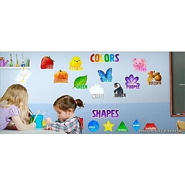 IStickUp Shapes and Colors Wall Decal; 37'' H x 57'' W