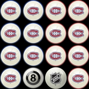 Imperial NHL Home Vs. Away Billiard Ball Set; Montreal Canadians