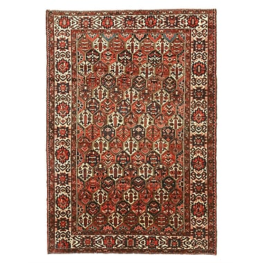 Eastern Rugs Bakhtiar Hand-Knotted Red/Orange Area Rug