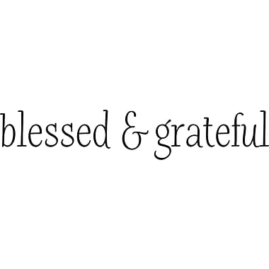 Belvedere Designs LLC Blessed & Grateful Wall Quotes Decal
