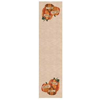 Heritage Lace Patchwork Pumpkin Table Runner; 60'' W x 16'' L