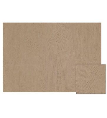 LUX A2 Flat Card (4 1/4 x 5 1/2) 500/Box, Oak Woodgrain (4020-S01-500)