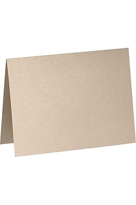 LUX A2 Folded Card (4 1/4 x 5 1/2) 50/Box, Taupe Metallic (5020-M09-50)